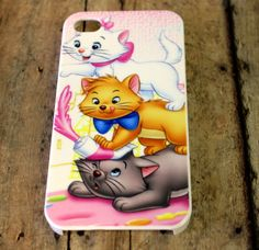 Aristocats, cats, black, white, orange, kittens, classic disney movie, Marie,  Iphone 5 case/cover No.4-29 By Hot2own on Etsy, $10.99