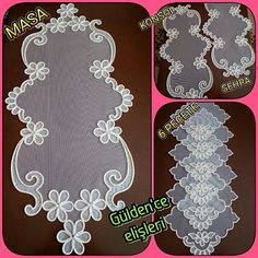 Point Lace, Crochet Motif, Couture, Table Runners, Hand Embroidery, Kids Rugs, Algerian Recipes, Decorative Plates, Handmade