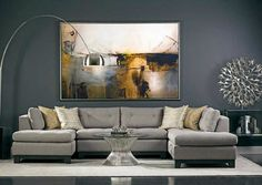 high fashion home gray wall living room idea 50