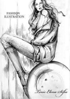 Fashion Illustration: pencil sketches