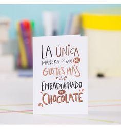 Tarjeta de felicitación LOVER Chocolate #pedritaparker #cumpleaños #felicitación #tarjeta