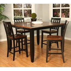 Check Out The American Heritage 713425 Rosetta 54 Butterfly Table With 4 Mia Chairs In Butterfly Tablecounter Height Dining