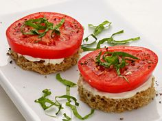 Garden Recipes | Tomato & Basil Finger Sandwiches. From huffingtonpost.com.