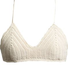 Marilyn & Main Women's Crochet Knit Triangle Bralette