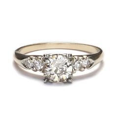 Circa 1940s Diamond Engagement Ring - VR537-05