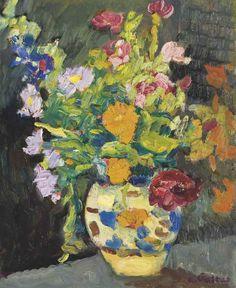 Vase de fleurs, Louis Valtat. French Fauvist Painter (1869 - 1952)