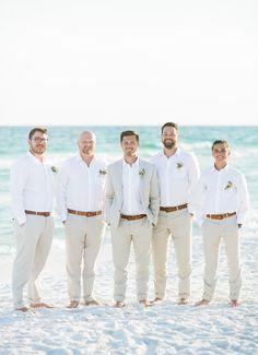 beach groomsmen