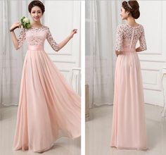 Wholesale Sheer Prom Dresses - Buy 2014 A Line Half Sleeve Prom Dresses Lace Bodice Sheer Neck Crew Hollowed Carved New Design A Line Floor Length Evening Gown Formal Dresses, $106.4 | DHgate