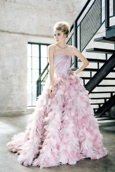 100 Colorful Non-White Wedding Dresses - Strapless Wedding Dresses Non White Wedding Dresses, White Bridal, Cheap Wedding Dress, Designer Wedding Dresses, The Dress, Pink Dress, Wedding Bride, Wedding Gowns, Haute Couture Gowns