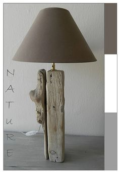 Over the water full of driftwood creations, tutorials and info. Driftwood Lamp, Wood Lamps, Furniture Movers, Diy Furniture, Recycled Decor, Lampe Decoration, All Of The Lights, Inexpensive Furniture, Dream Home Design