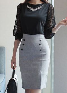 Business outfits women - Korean Women's Fashion Shopping Mall, Styleonme. N Informations About Business outfits women Pin Y - Classy Work Outfits, Classy Dress, Office Outfits, Office Wardrobe, Elegant Outfit, Elegant Dresses, Capsule Wardrobe, Business Outfit Frau, Business Outfits Women