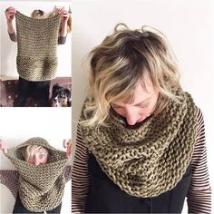 Onion Dyed Knitted Cowl by ThreadyJenny on Etsy