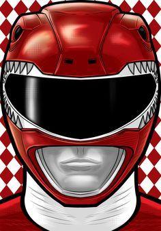 Red Ranger by Thuddleston on DeviantArt Power Rangers Dino, Mascara Power Rangers, Todos Os Power Rangers, Power Rangers Tattoo, Desenho Do Power Rangers, Power Rangers Movie 2017, Power Rangers Comic, Power Rangers Fan Art, Mighty Morphin Power Rangers