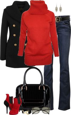 """Red & Black (II)"" by partywithgatsby ❤ liked on Polyvore"