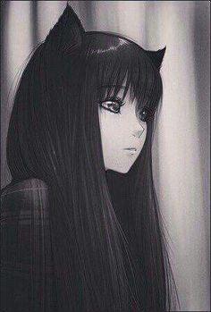 59 Trendy Ideas For Drawing Sad Anime Manga Girl Anime Neko, Manga Anime, Art Manga, Anime Kawaii, Manga Drawing, Anime Art, Drawing Hair, Drawing Faces, Manga Girl