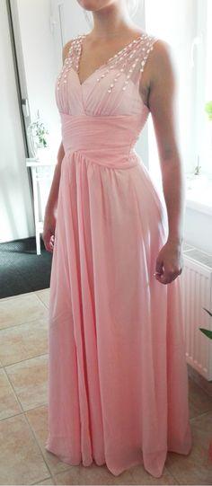 Plesové šaty dlouhé lososové s třpytivými kameny Sexy Dresses 8097fc23fc3