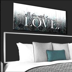 Bedroom Wall Art: Love You Still Large Wall Art 2 Sizes Available (Wood Frame Ready To Hang) Diy Wall Decor, Diy Bedroom Decor, Diy Home Decor, Wall Decorations, Bedroom Art Above Bed, Bedroom Wall, Bedroom Decor For Couples, Welcome To My House, Love Wall Art