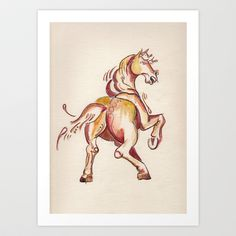 Wild Horses - Getting Ready Art Print by The House of Black - $18.00