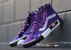 Vans Reissue CAP Violet Indigo Release Date - SBD Source by breytencowen Shoes Vans Shoes Fashion, Mens Vans Shoes, Vans Sneakers, Vans Men, Cool Vans Shoes, High Top Vans, High Top Sneakers, Vans Sk8 Hi Reissue, Sk8 Hi Vans