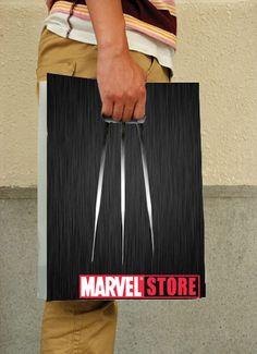 Conceito criativo de uma sacola para a Marvel Store - Comunicadores.info