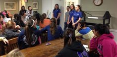 Students in the Health Services Peer Education group SPIN (Students Promoting Information About Nutrition) presented a great smoothie program to the women in Chi Omega. http://unh.edu/health-services/ohep/nutrition/spin-students-promoting-information-about-nutrition