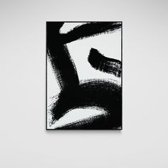 Minimalist Black and White Abstract 3 - Canvas / 24X36 / No Frame
