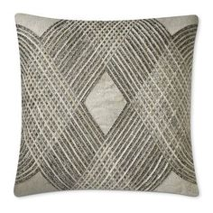 Lazarine Embellished Hide Pillow Cover, Silver #williamssonoma