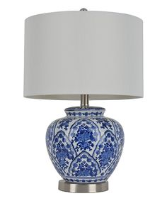 Look at this Blue & White Table Lamp on #zulily today!