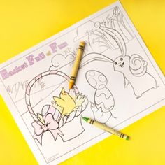 Free Easter Basket Coloring Page  #easter #eastertraditions #easterideas
