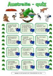 English Worksheets: Australia quiz