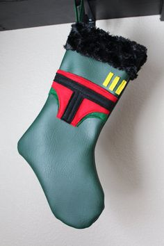 Boba Fett Stocking by ColieIsAMonsta on Etsy, $30.00