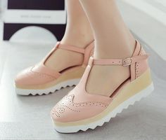 Free Shipping  England Woman shoes spring and autumn 2017 new simple fashion all-match college wind flat platform shoes 35-39