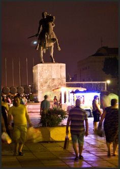 Statue of Alexander the Great - Thessaloniki, Macedonia region of northern Greece - #macedonia2014 www.history-of-macedonia.com Going On A Trip, Alexander The Great, Thessaloniki, Macedonia, Ancient Greece, Nymph, Beautiful Places, The Past, To Go