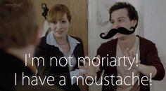 He has a mustache guyyyys! (Gif)