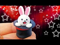 ADORABLE BUNNY IN A HAT Polymer Clay Tutorial + Lootcrate August 2015 - YouTube