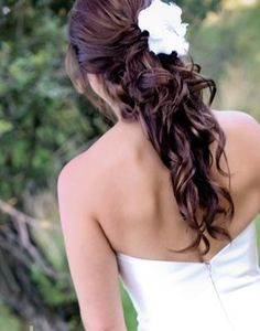 Wedding hairstyles half up half down curly