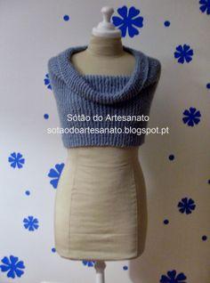 Sótão do Artesanato: 65. Gola - Capa em tricot