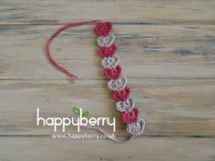 Happy Berry Crochet: Quick and simple crochet heart bracelet pattern