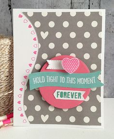 ~ forever ~ - Scrapbook.com - Love the shape and stamping on this pretty card.