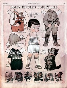 Cousin Bill paper doll