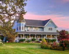 Blue Mountain Mist - Main House - This 10,000 Sq Ft Victorian-style farmhouse has twelve individually decorated guests' rooms and sleeps up to 27. http://www.visitmysmokies.com/property-listings/blue_mountain_mist_farm_house/