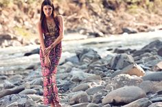#Summer #Fashion - #Beachwear. A maxi dress is a holiday must-have these days and we love this one by Verdissima, £199 at Secrets.