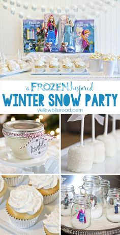 A Winter Snow Party Inspired by Disney's FROZEN - Yellow Bliss Road