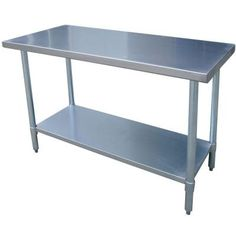AmeriHome Stainless Steel Kitchen Work Table 24 in. x 49 in.-SSWTABLE at The Home Depot