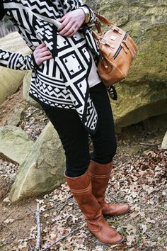 Aztec sweater and frye boots! Love! @urbanoutfitters @fryeboots @modalu_london