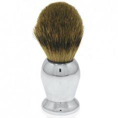 Engraved Pewter Shaving Brush