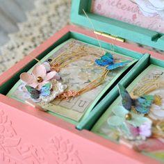 Baby girl memory box, personalized baby keepsake box - decoupage, scrapbooking, mixed media