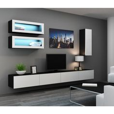 Modern wall unit designs for living room tv entertainment center Classic Living Room, Living Room Modern, Living Room Designs, Living Room Wall Units, Living Room Decor, Wall Unit Designs, Modern Wall Units, Tv Wall Decor, Wall Tv