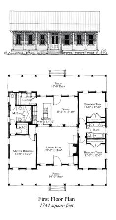 Cool House Plan Id Chp 49769 Total Living Area 1744 Sq