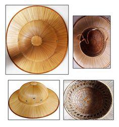 Vintage Hand-Stitched Bamboo Pith Helmet / Safari Hat | eBay